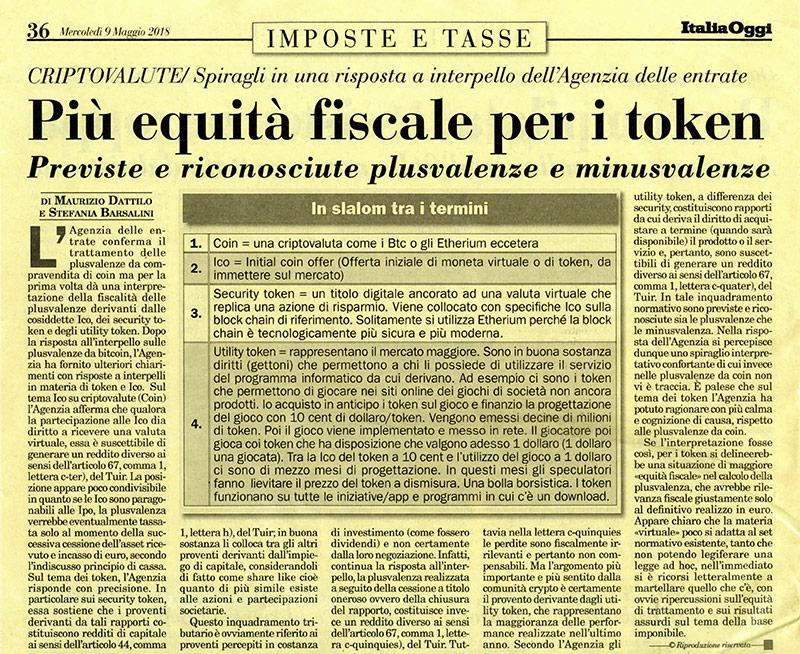 Studio Dattilo - Italia Oggi